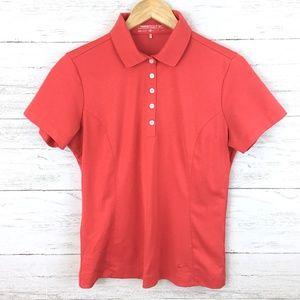 Nike Golf Women's Dri Fit Red Polo Shirt M